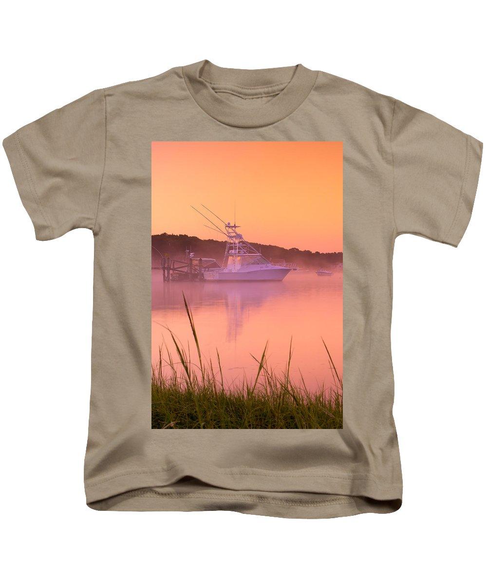 Mist Kids T-Shirt featuring the photograph Misty Morning Osterville Cape Cod by Matt Suess