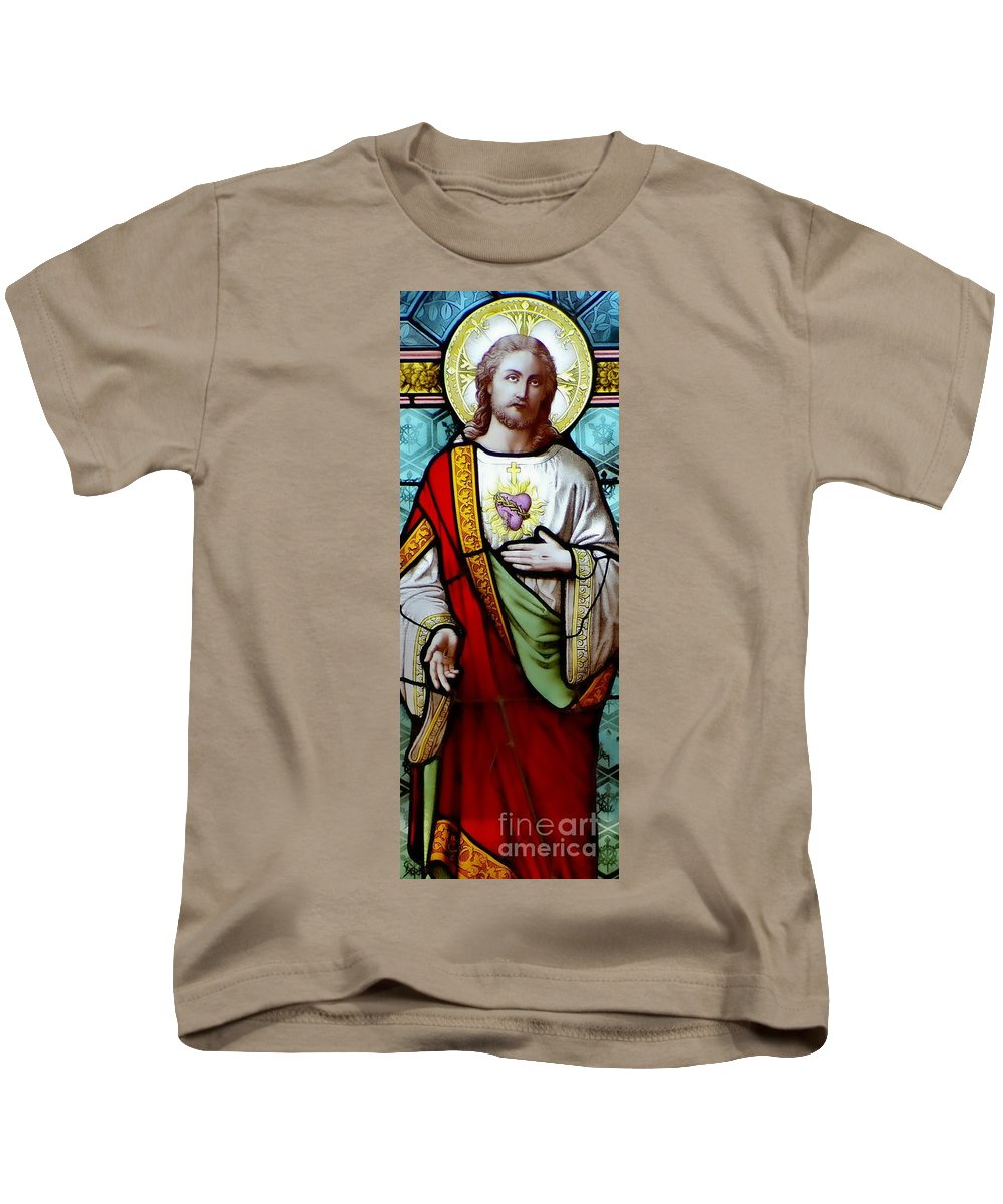 Sacred Heart Of Jesus Kids T-Shirt featuring the photograph Most Sacred Heart Of Jesus by Elizabeth Duggan