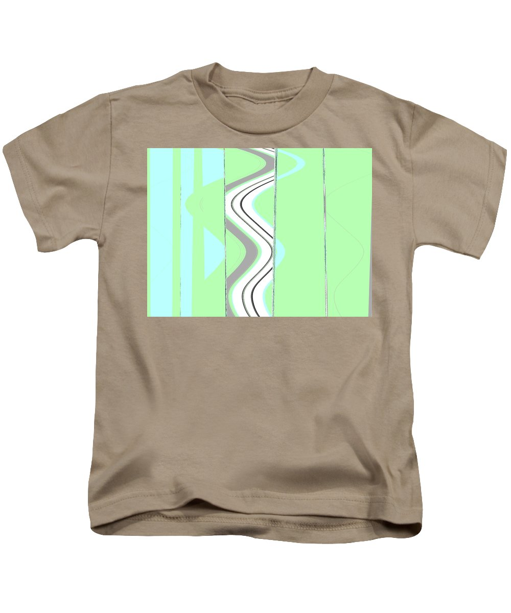 Abstract Kids T-Shirt featuring the digital art My Life by Lenore Senior