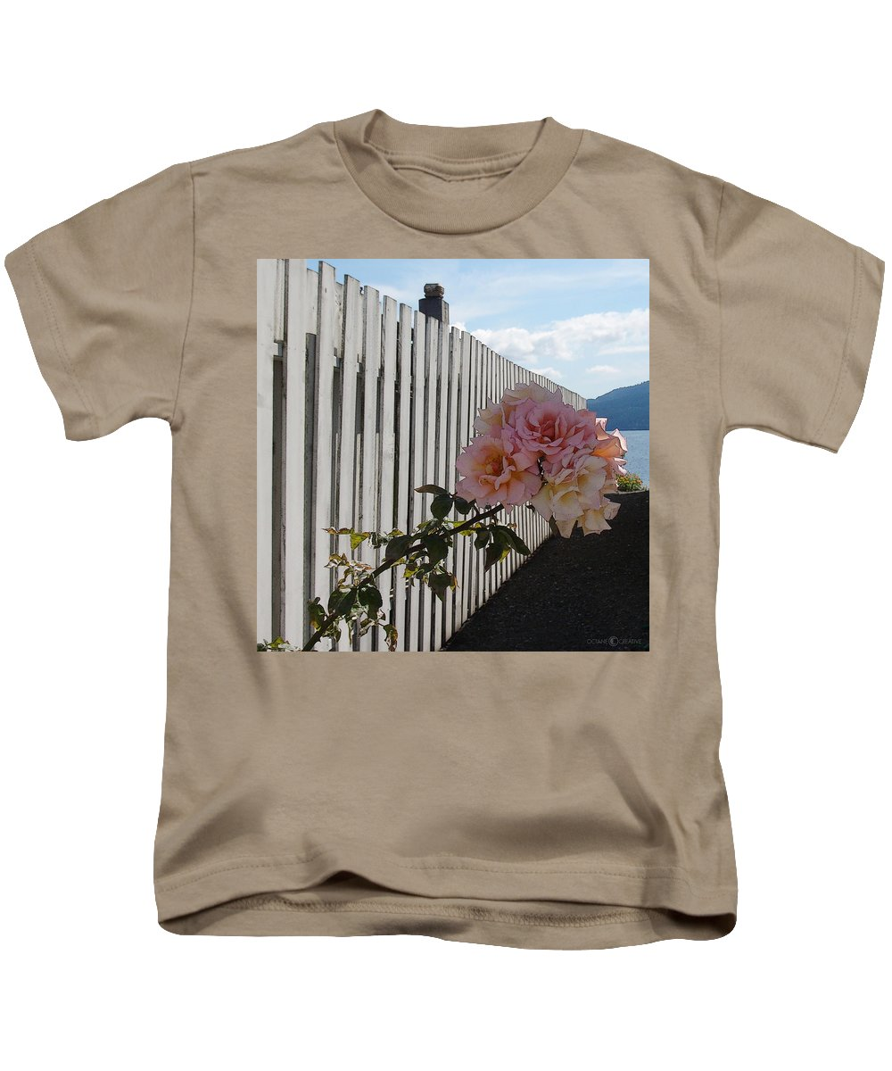 Rose Kids T-Shirt featuring the photograph Orcas Island Rose by Tim Nyberg