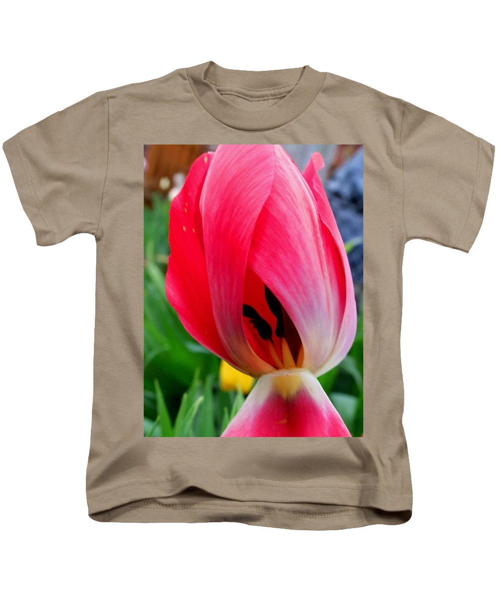 Tulip Kids T-Shirt featuring the photograph Peek-a-boo by Michiale Schneider