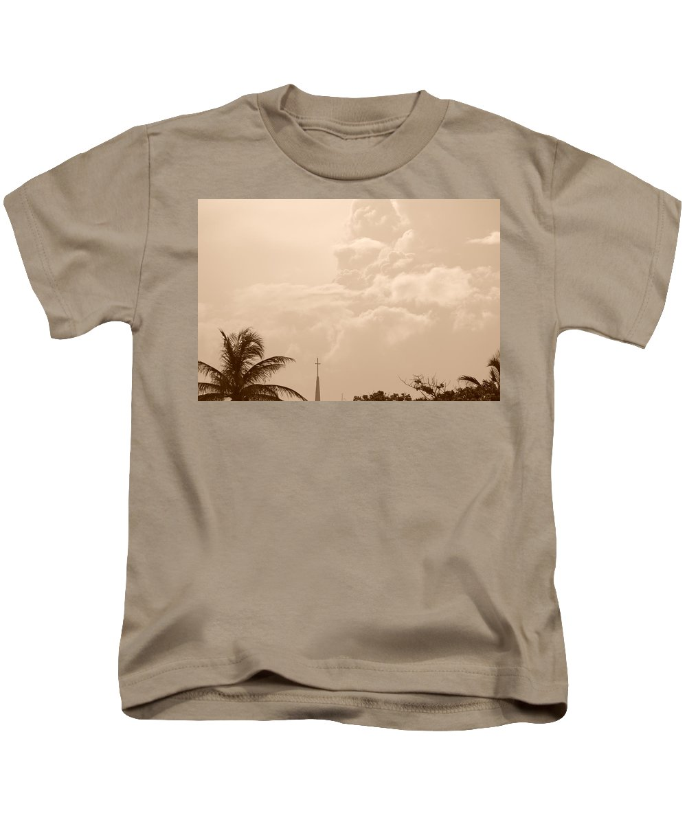 Sepia Kids T-Shirt featuring the photograph Sepia Sky by Rob Hans
