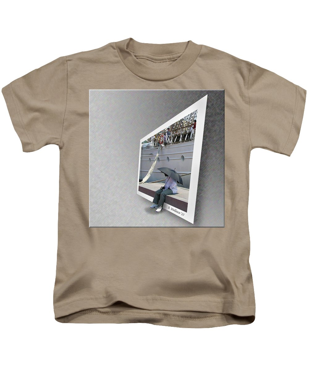 2d Kids T-Shirt featuring the photograph Somewhere It Is Raining by Brian Wallace