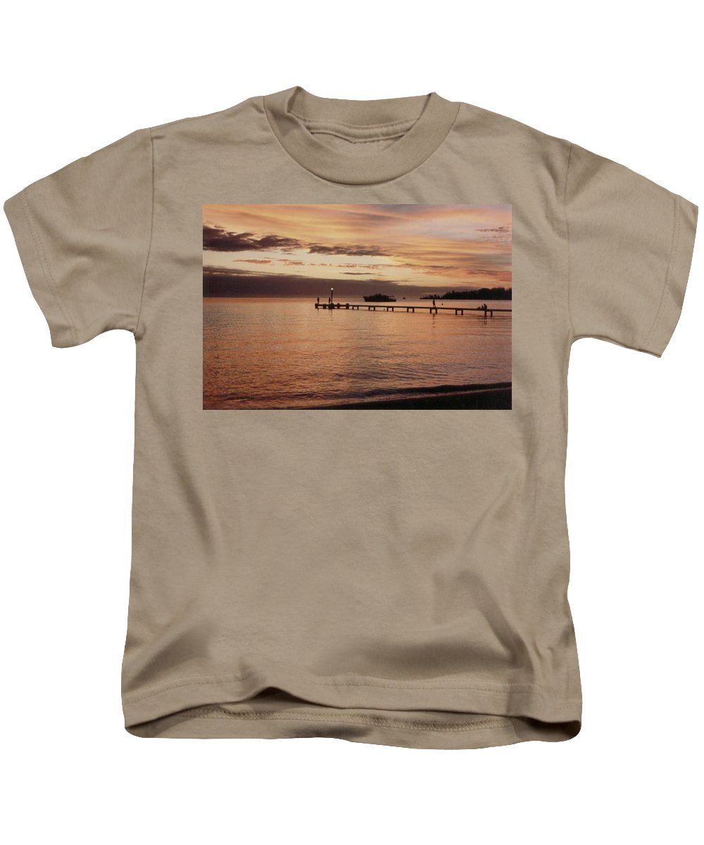 Sunset Kids T-Shirt featuring the photograph Sunset In Paradise by Mary-Lee Sanders