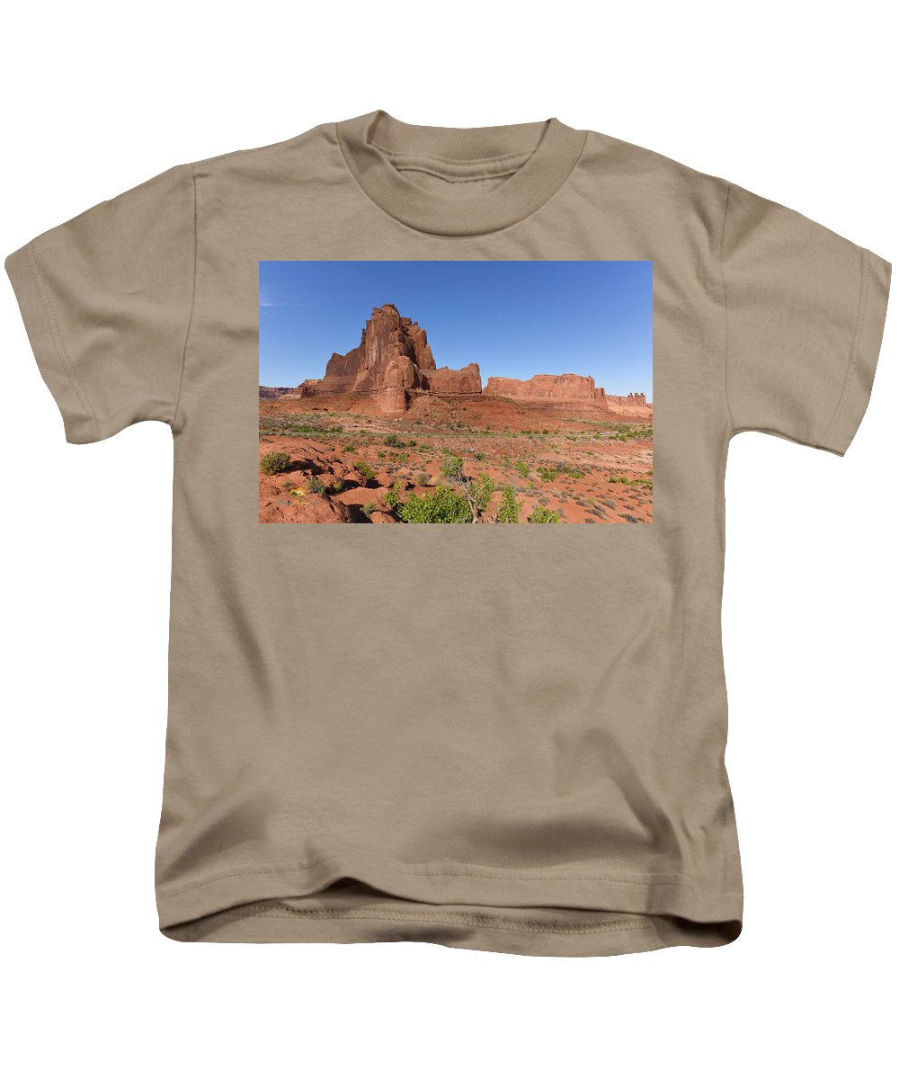 Arches National Park Kids T-Shirt featuring the photograph The Organ by Jim Thompson