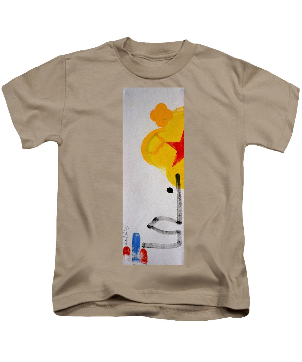 Drawing Kids T-Shirt featuring the painting UN by Charles Stuart