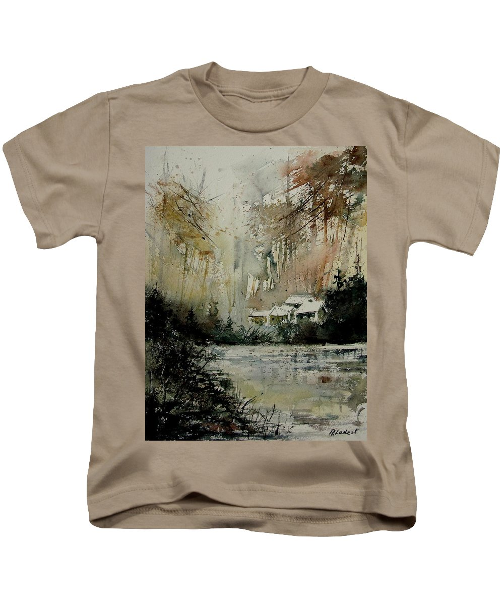 Water Kids T-Shirt featuring the painting Watercolor 070608 by Pol Ledent
