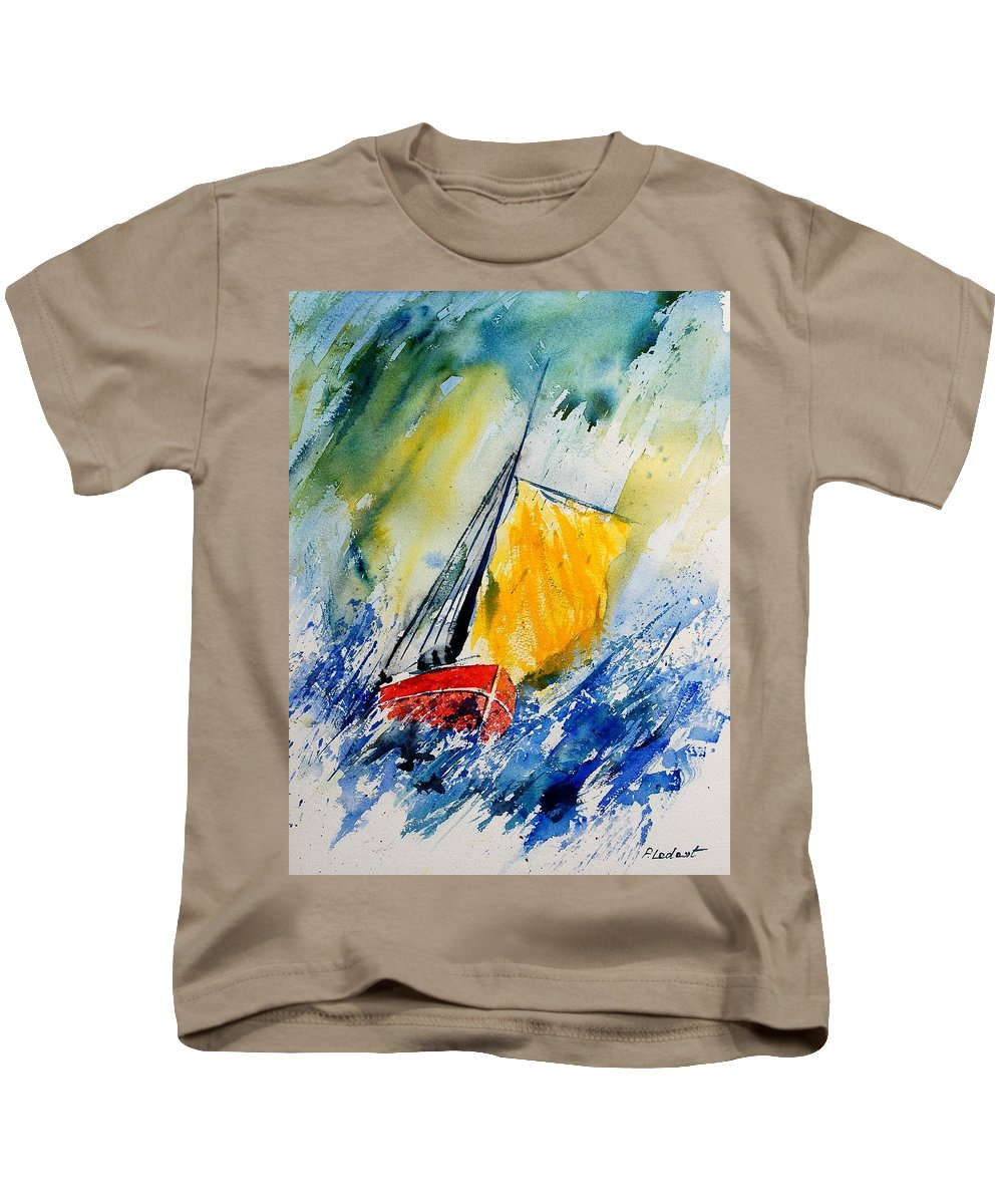 Sea Kids T-Shirt featuring the painting Watercolor 280308 by Pol Ledent