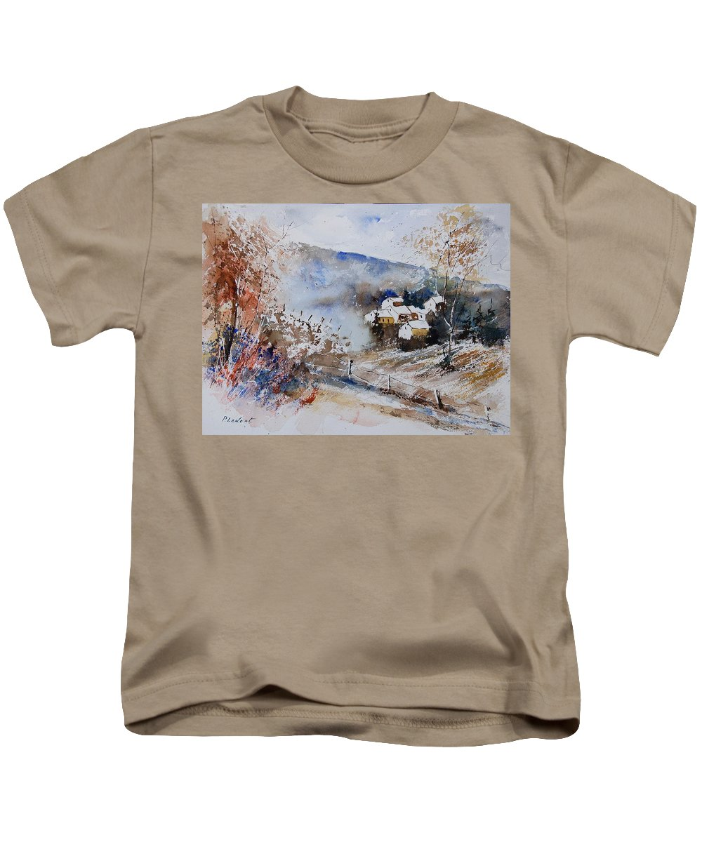 Winter Kids T-Shirt featuring the painting Watercolor 902091 by Pol Ledent