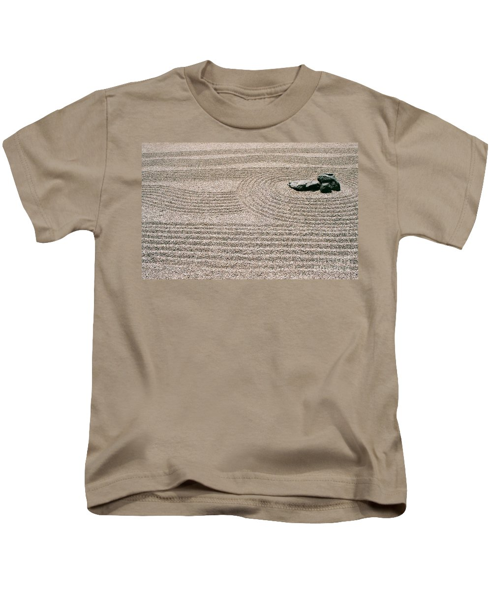 Zen Kids T-Shirt featuring the photograph Zen Garden by Dean Triolo