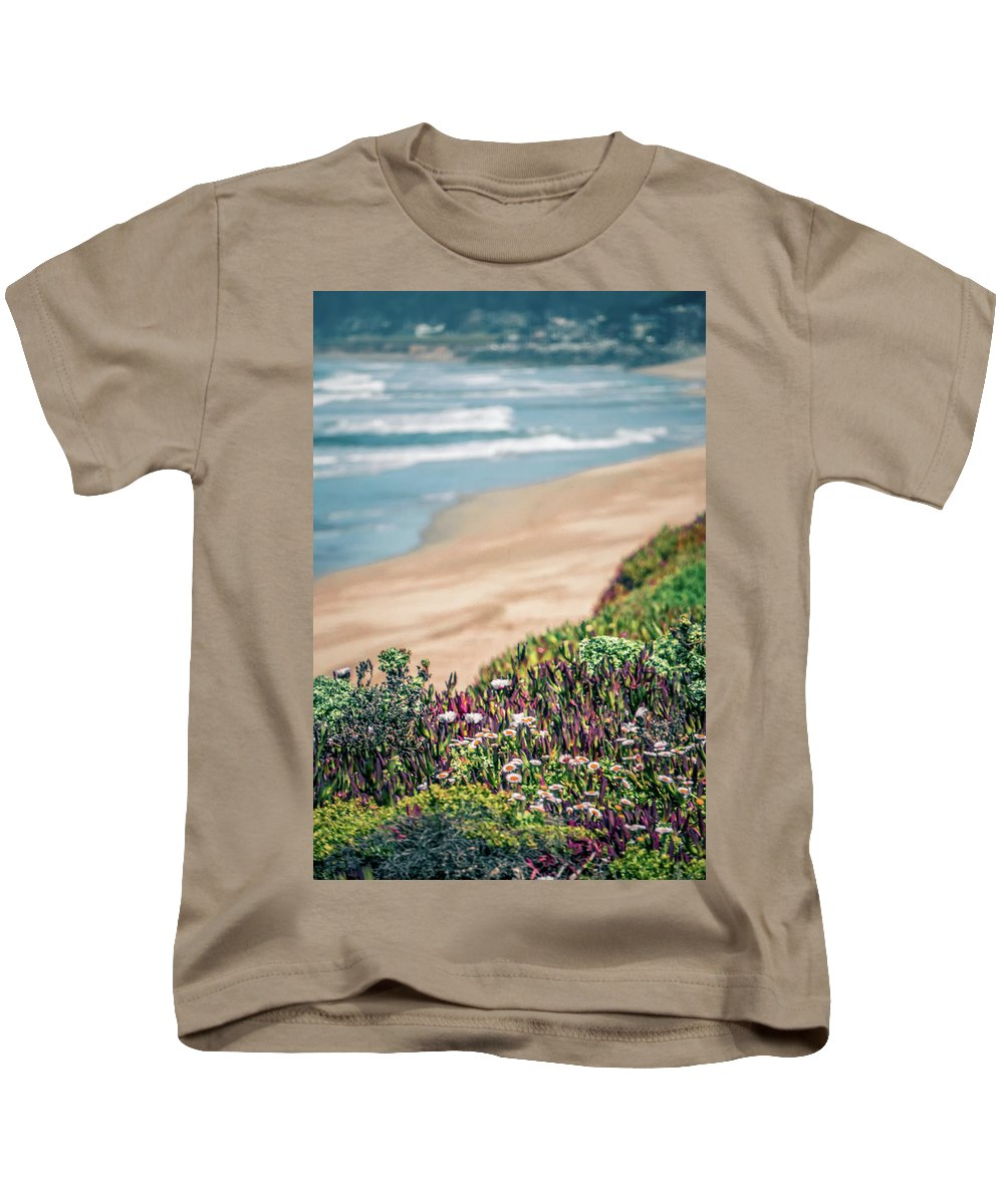 Usa Kids T-Shirt featuring the photograph Western Usa Pacific Coast In California by Alex Grichenko
