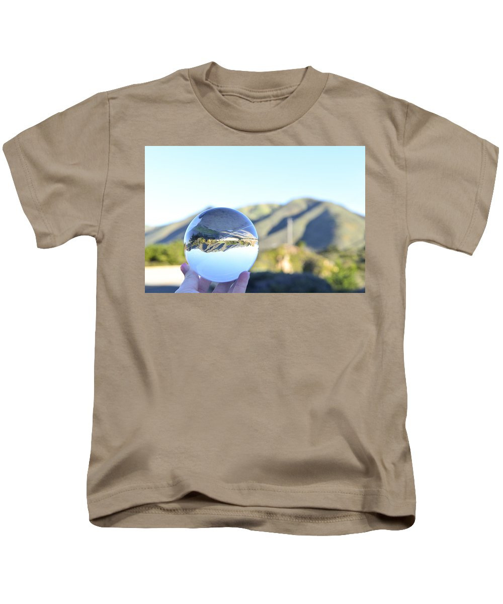 Mountain Kids T-Shirt featuring the photograph 180 Degrees by Kellie Prowse