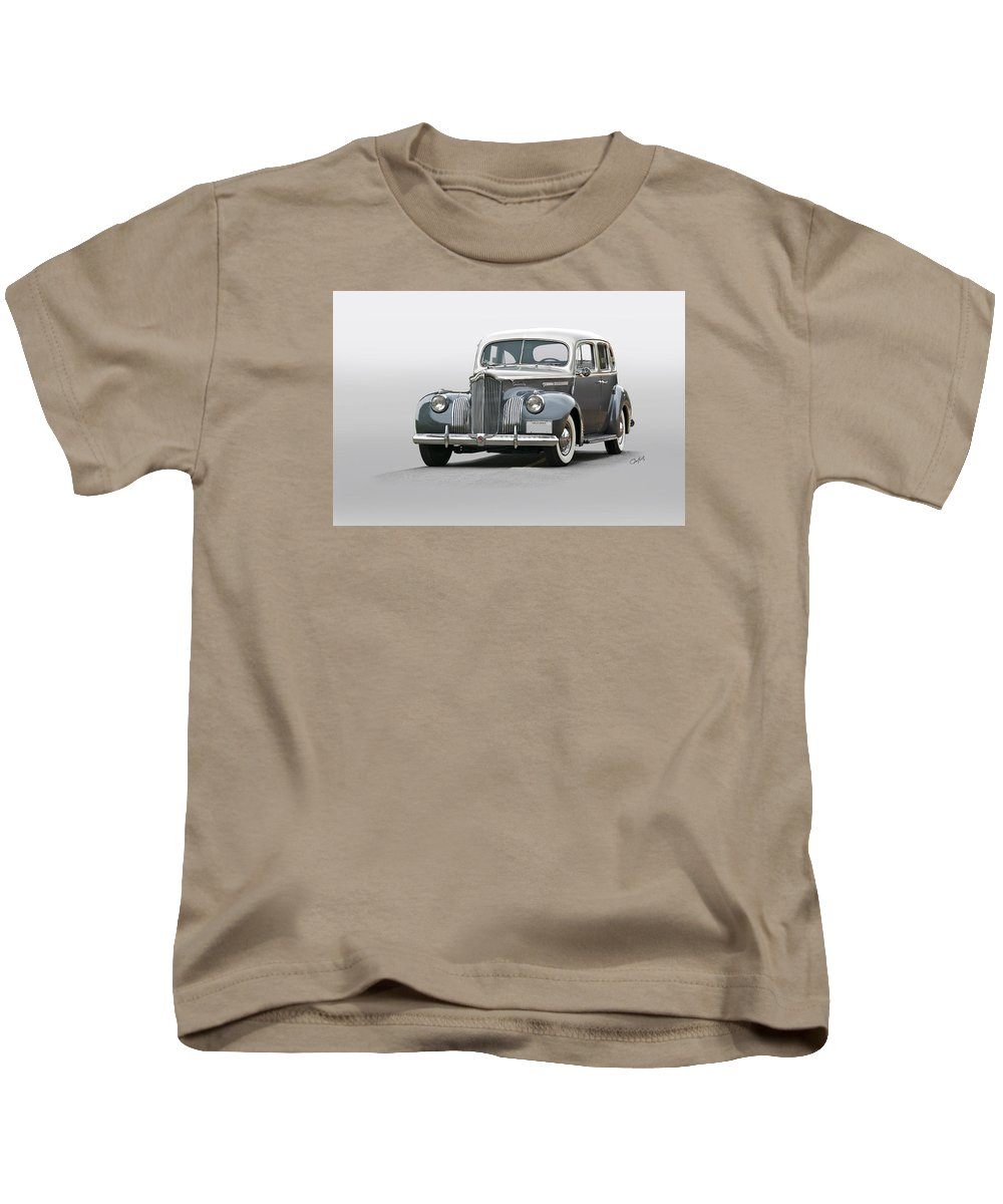 Auto Kids T-Shirt featuring the photograph 1941 Packard 120 Sedan I by Dave Koontz