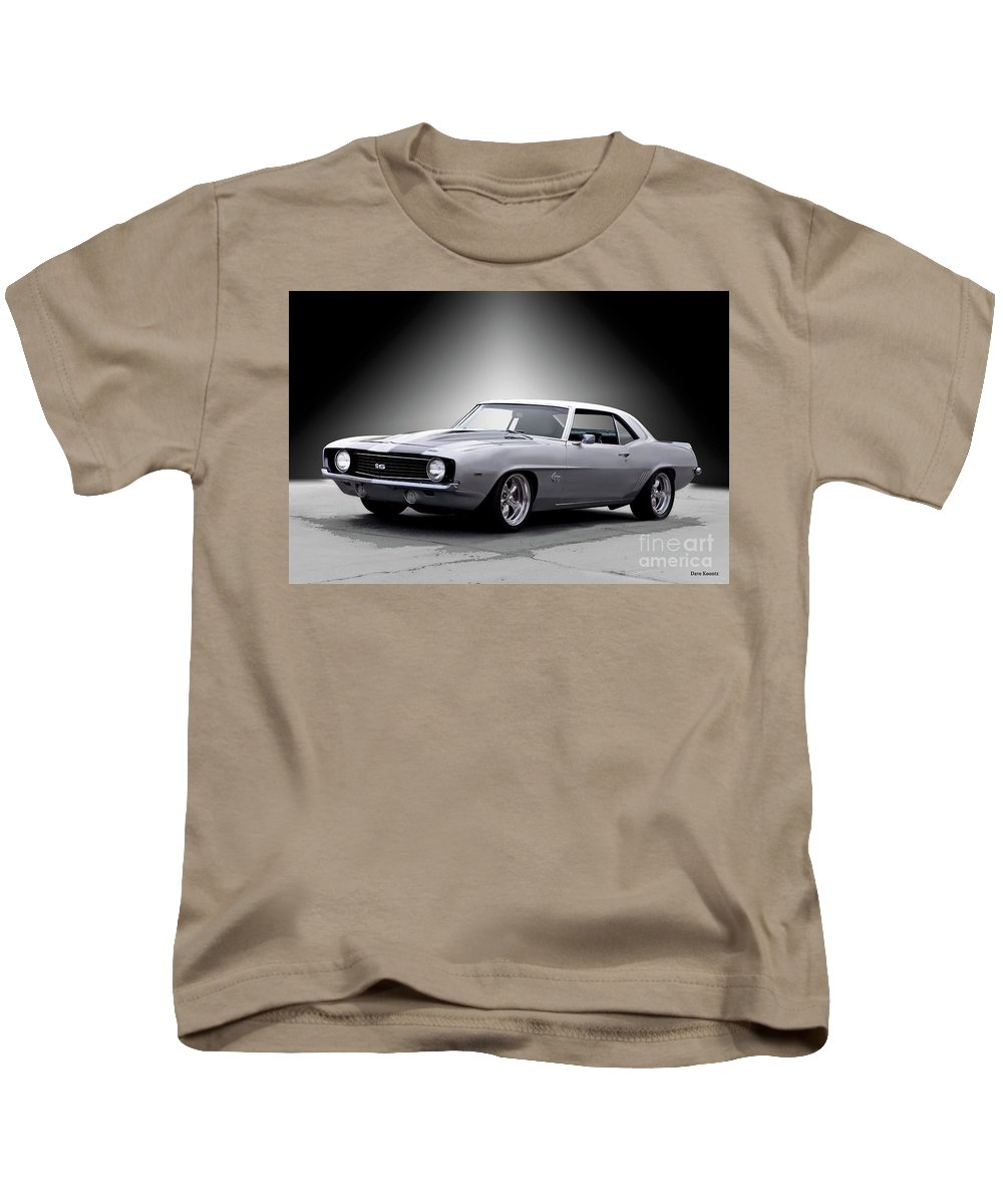 Automobile Kids T-Shirt featuring the photograph 1968 Chevrolet Camaro Ss Ll by Dave Koontz