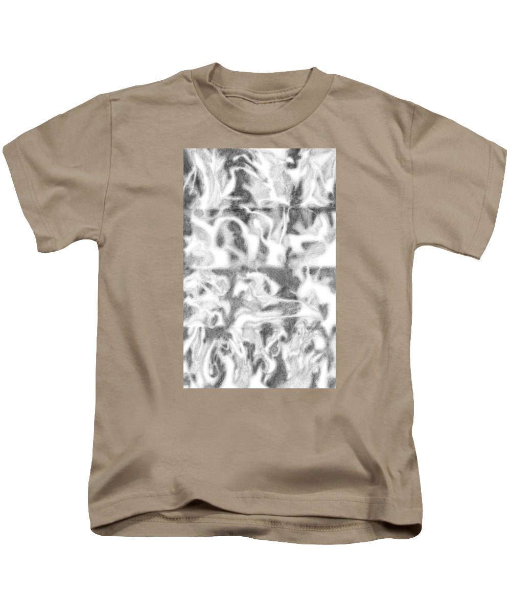 Abstract Kids T-Shirt featuring the drawing 1993 11a by Bill Ellsworth