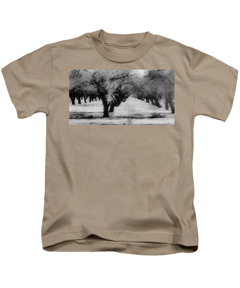Apple Orchards Kids T-Shirt featuring the photograph Apple Orchards In Dixon by Peggy Leyva Conley