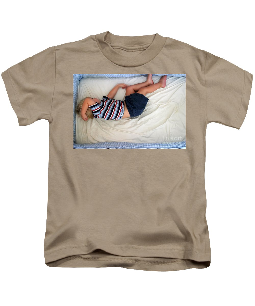 Person Kids T-Shirt featuring the photograph Sleep by Ted Kinsman