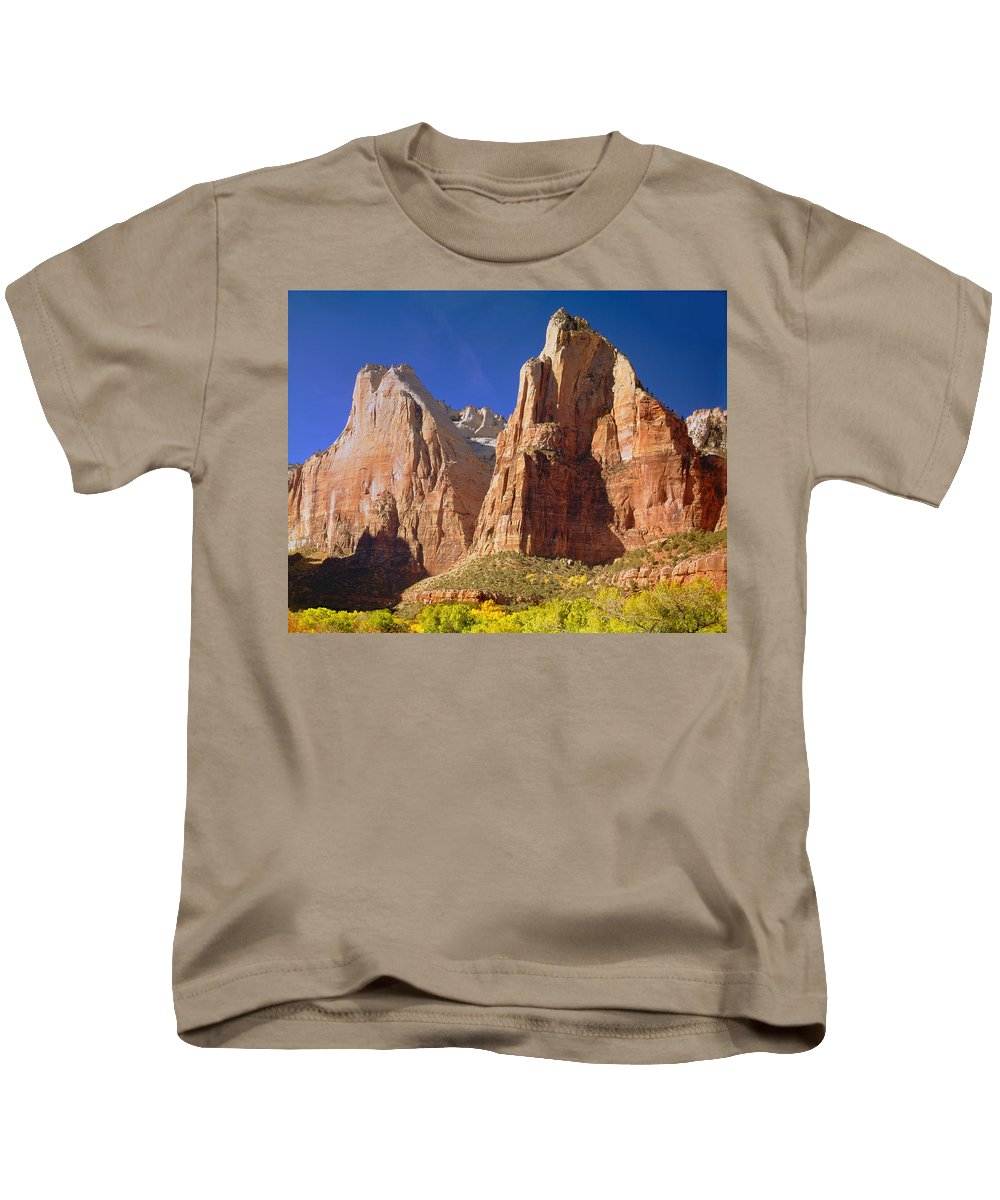 Court Of The Patriarchs Kids T-Shirt featuring the photograph 212437 Court Of The Patriarchs by Ed Cooper Photography