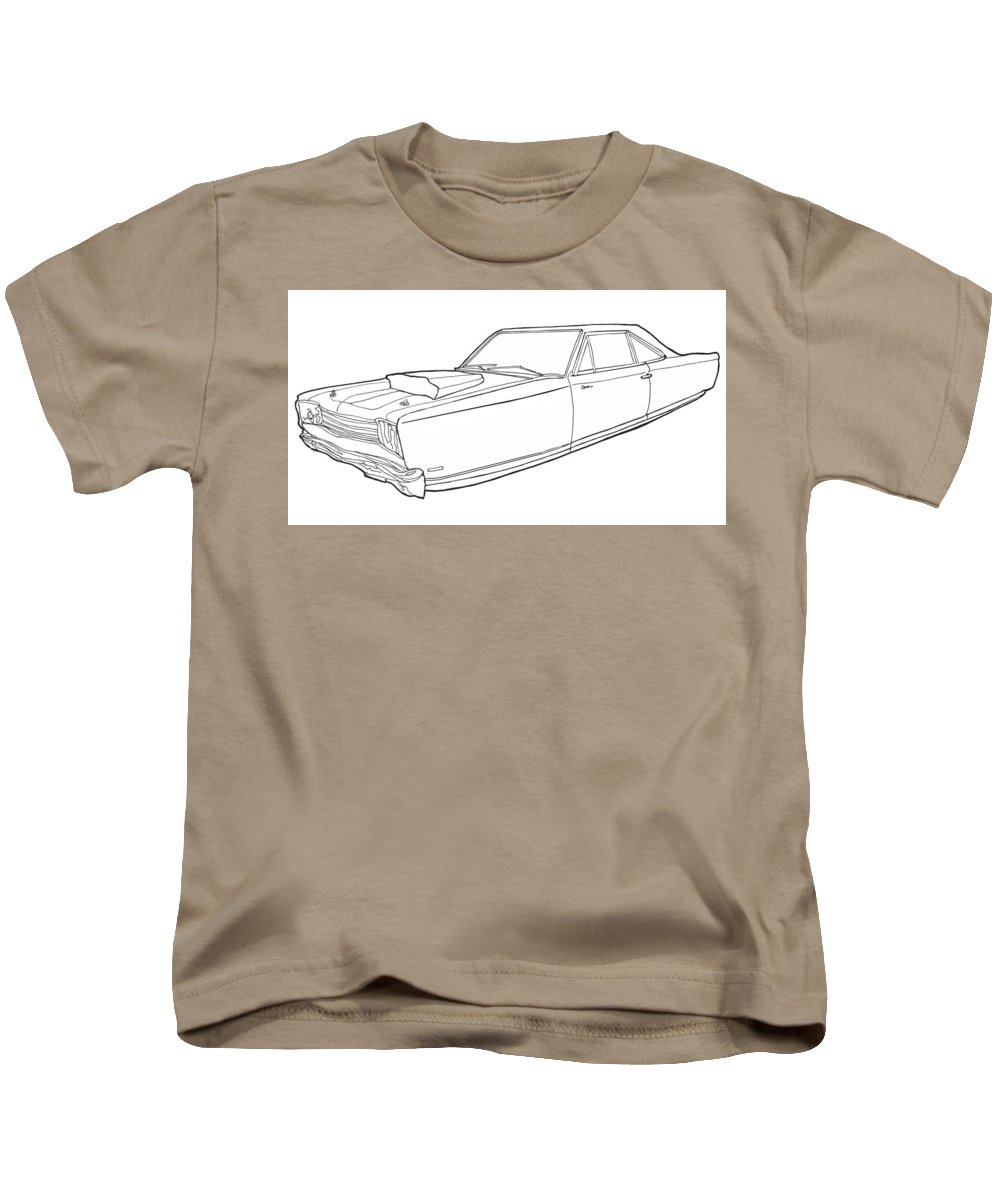 Hover Car Kids T-Shirt featuring the drawing 2171 Dodge by Nate Petterson