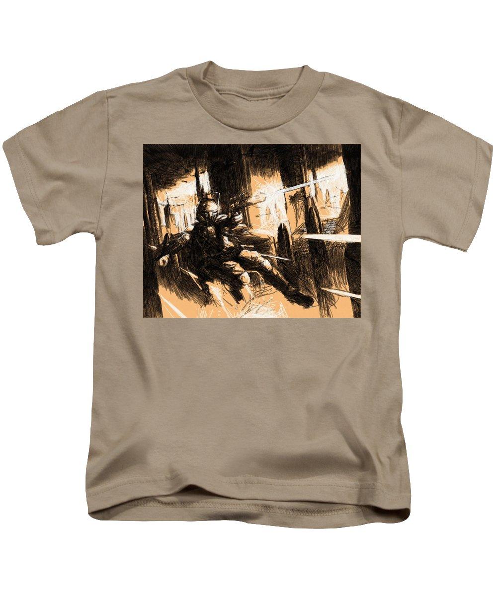 Star Wars Kids T-Shirt featuring the digital art Star Wars Heroes Art by Larry Jones