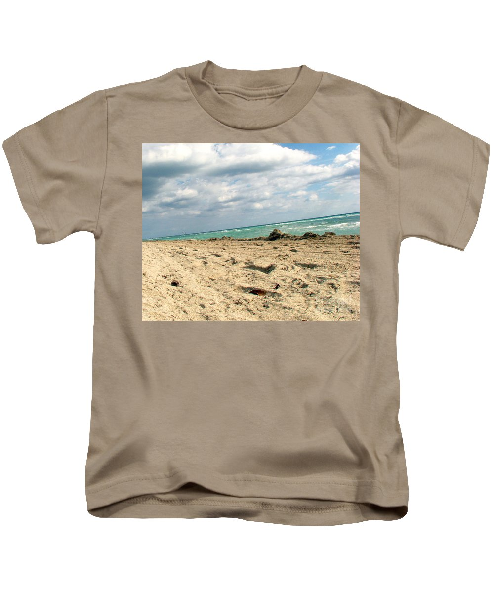 Miami Kids T-Shirt featuring the photograph Miami Beach by Amanda Barcon