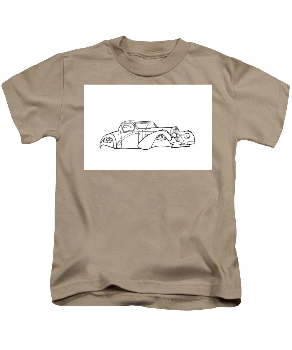 Hover Car Kids T-Shirt featuring the drawing 32 Ford Roadster by Nate Petterson