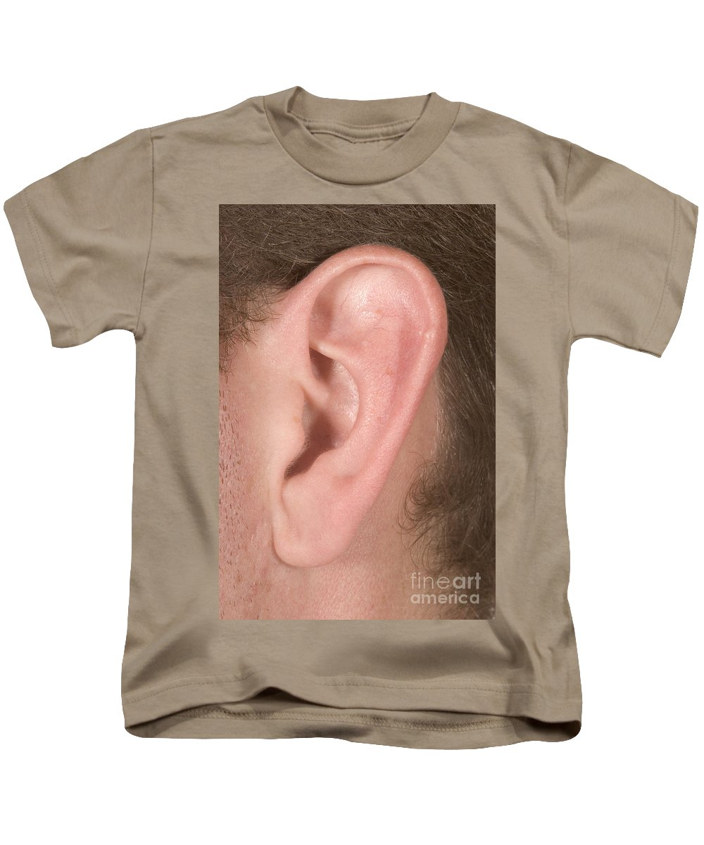 Ear Kids T-Shirt featuring the photograph Human Ear by Ted Kinsman