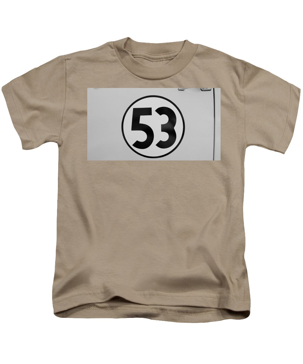Herbie Kids T-Shirt featuring the photograph 53 Herbie B W by Rob Hans