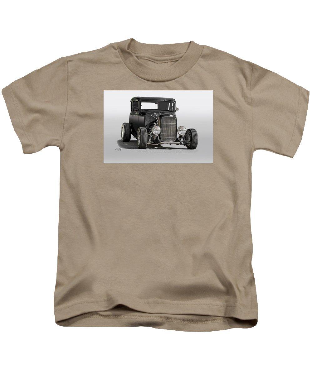 Auto Kids T-Shirt featuring the photograph 1932 Ford Tudor Sedan by Dave Koontz