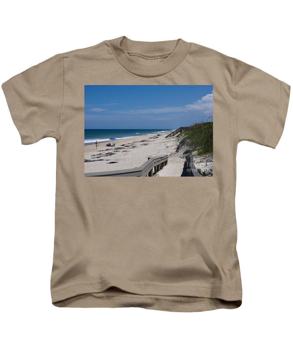 Florida Kids T-Shirt featuring the photograph Brevard County Florida Beaches by Allan Hughes