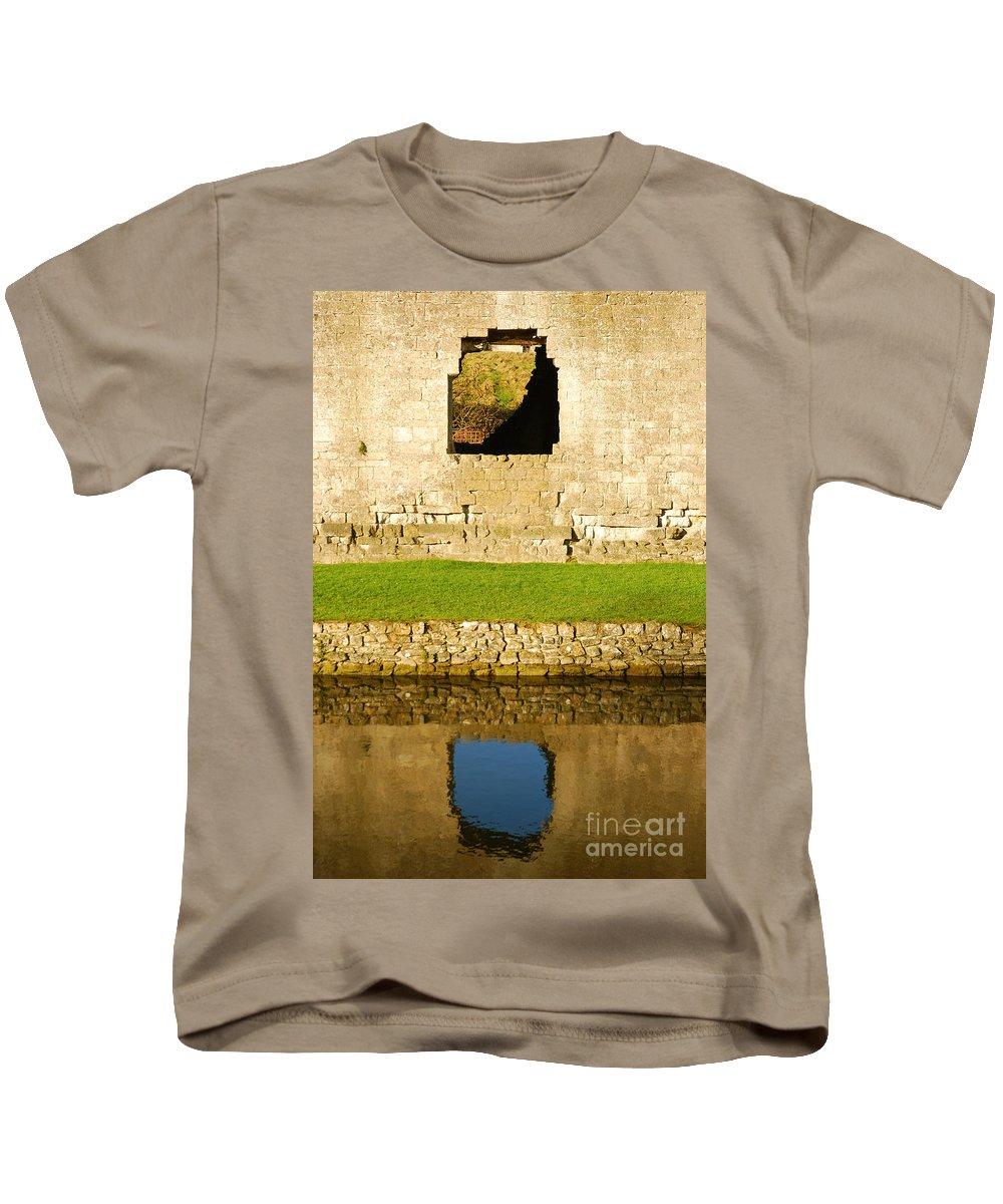Nunney Castle Kids T-Shirt featuring the photograph Nunney Castle by Kayme Clark