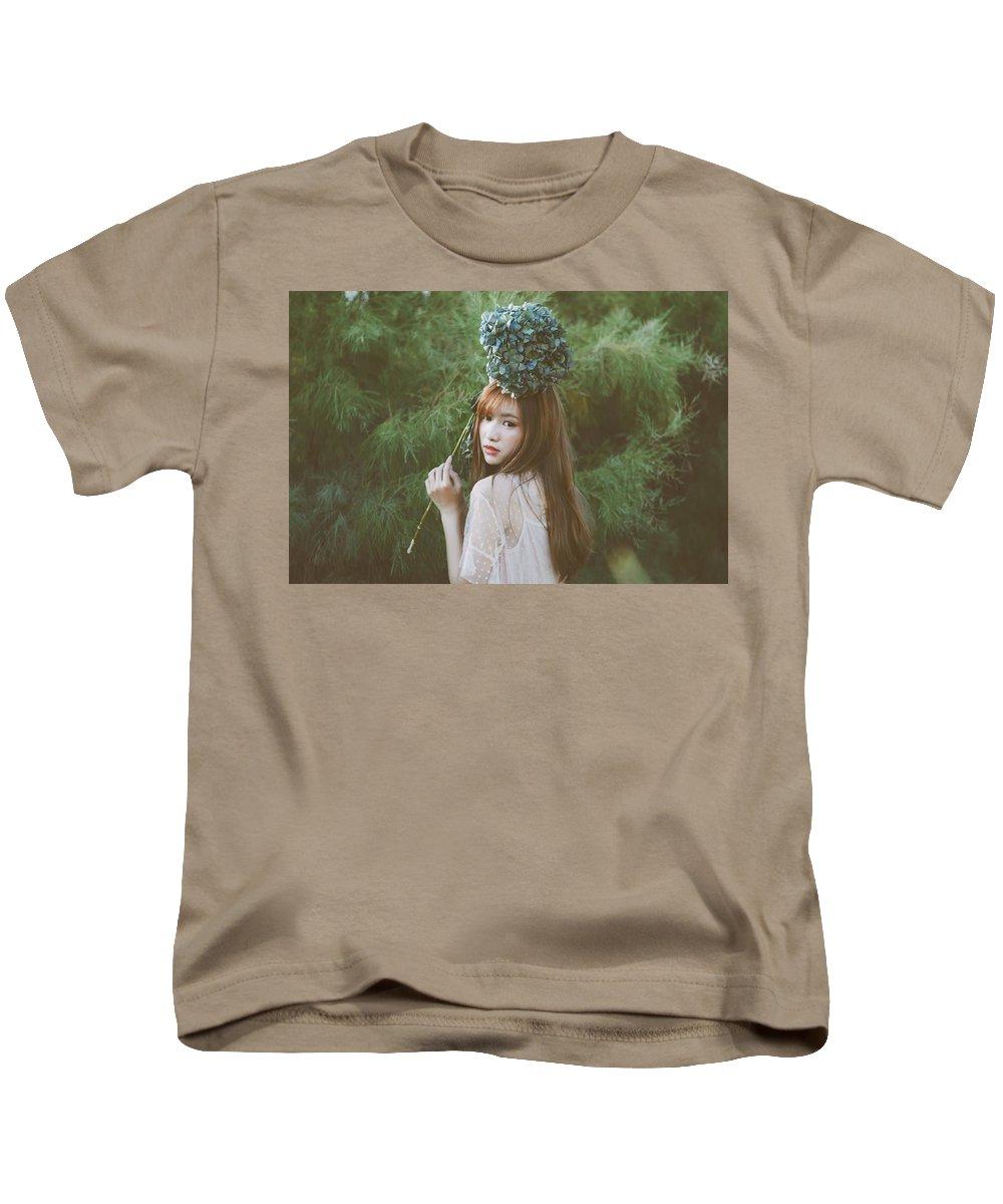 Asian Kids T-Shirt featuring the digital art Asian by Dorothy Binder