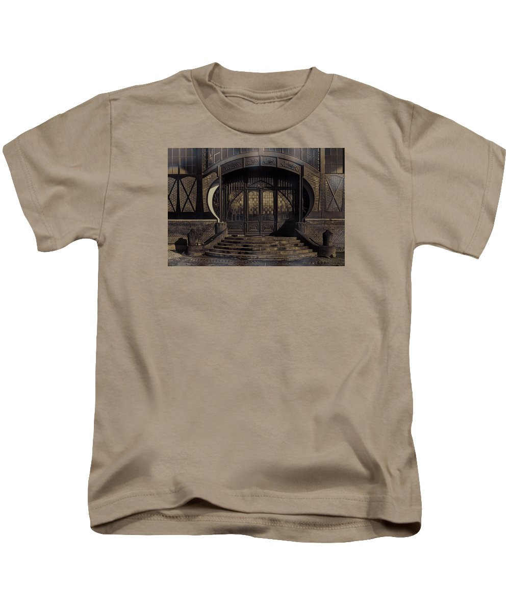 Door Photography Kids T-Shirt featuring the photograph A Good Comparison by Nicole Frischlich