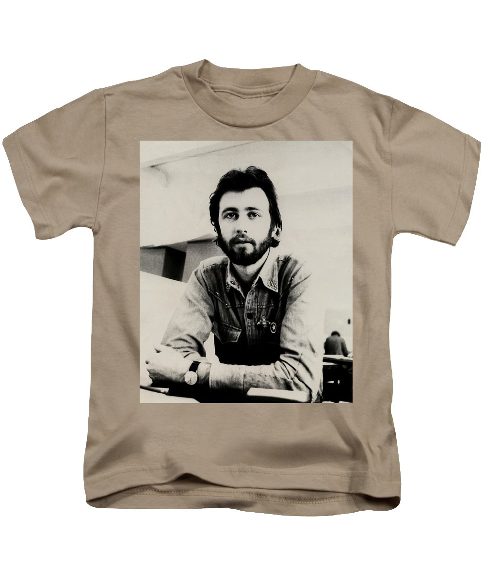 Young Man Kids T-Shirt featuring the photograph A Portrait Of The Artist As A Young Man by Charles Stuart