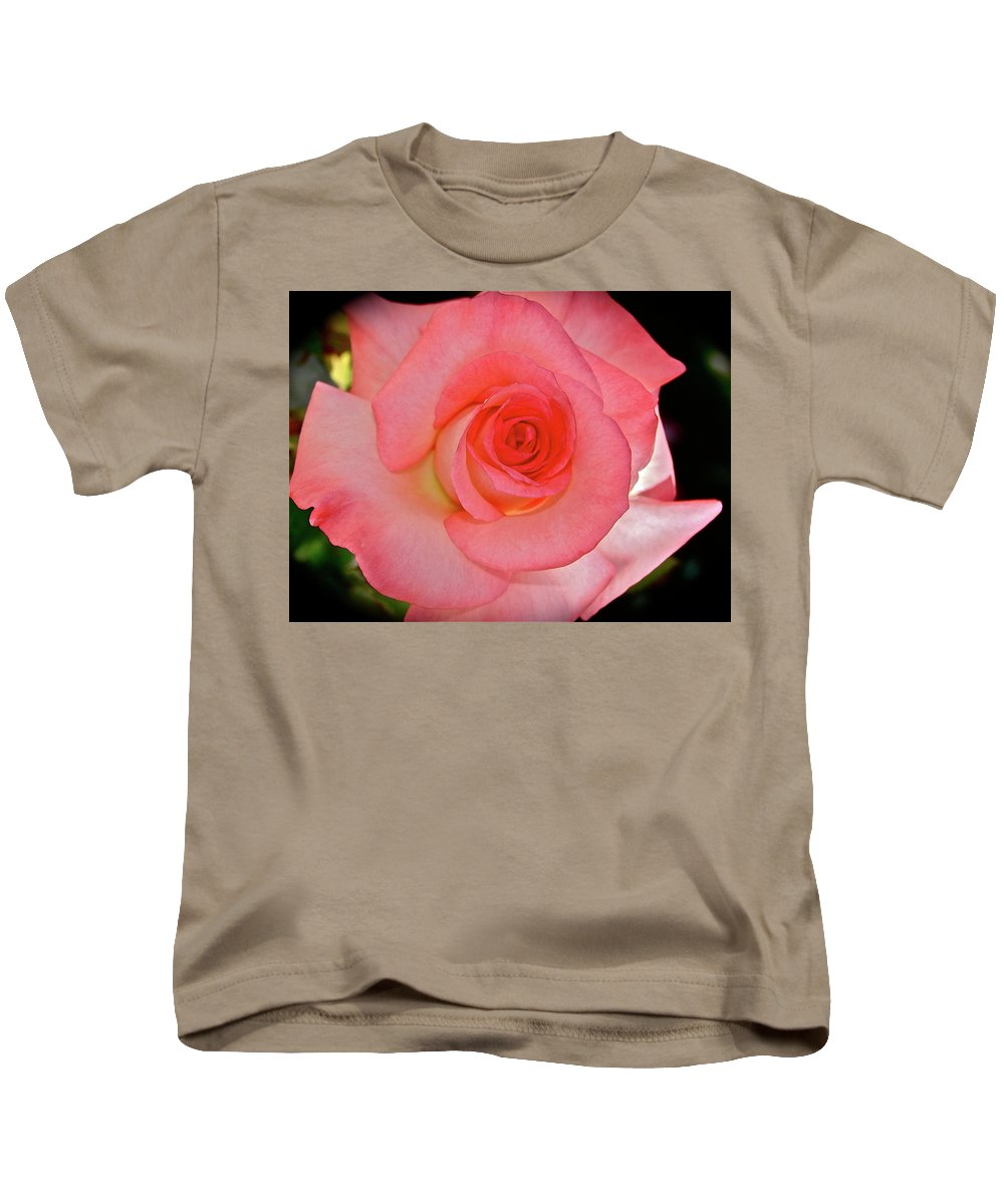 Rose Kids T-Shirt featuring the photograph A Rose For Mary by Diana Hatcher