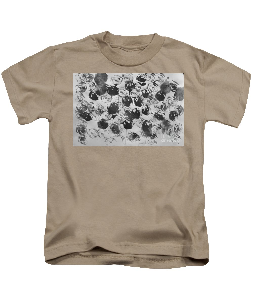 Abstract Kids T-Shirt featuring the painting A Rose Is A Rose by Jamey Balester