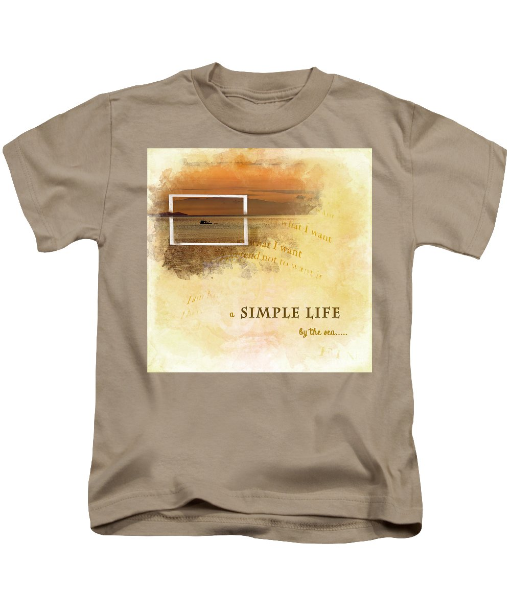 Gillian Kids T-Shirt featuring the photograph A Simple Life by Gillian Singleton