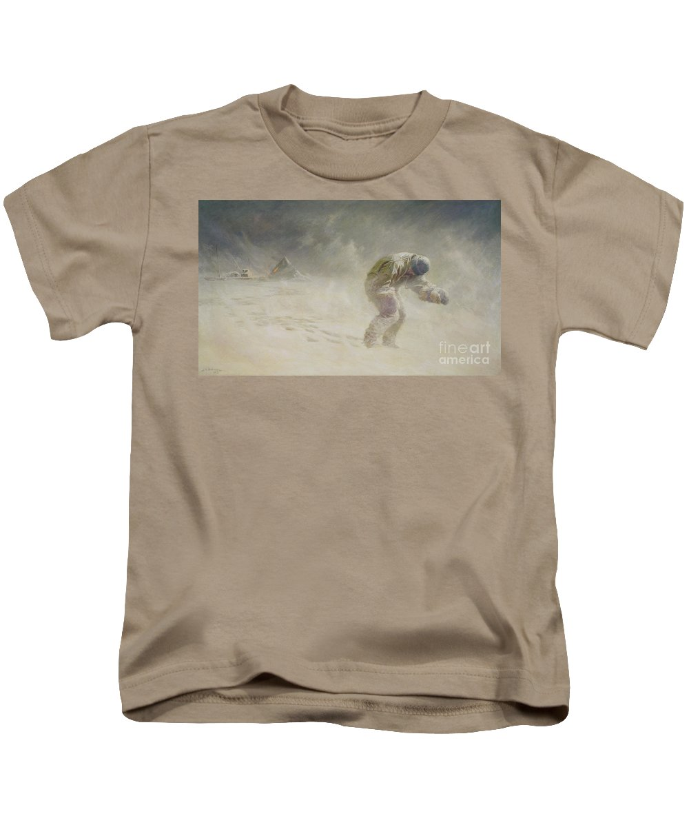 Very Kids T-Shirt featuring the painting A Very Gallant Gentleman by John Charles Dollman