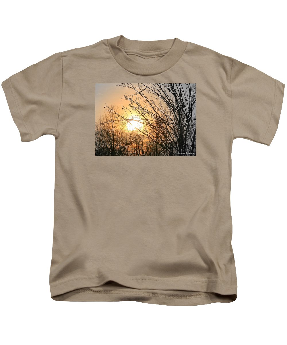 Sun Kids T-Shirt featuring the photograph A Winter's Day After Glow by J R Seymour