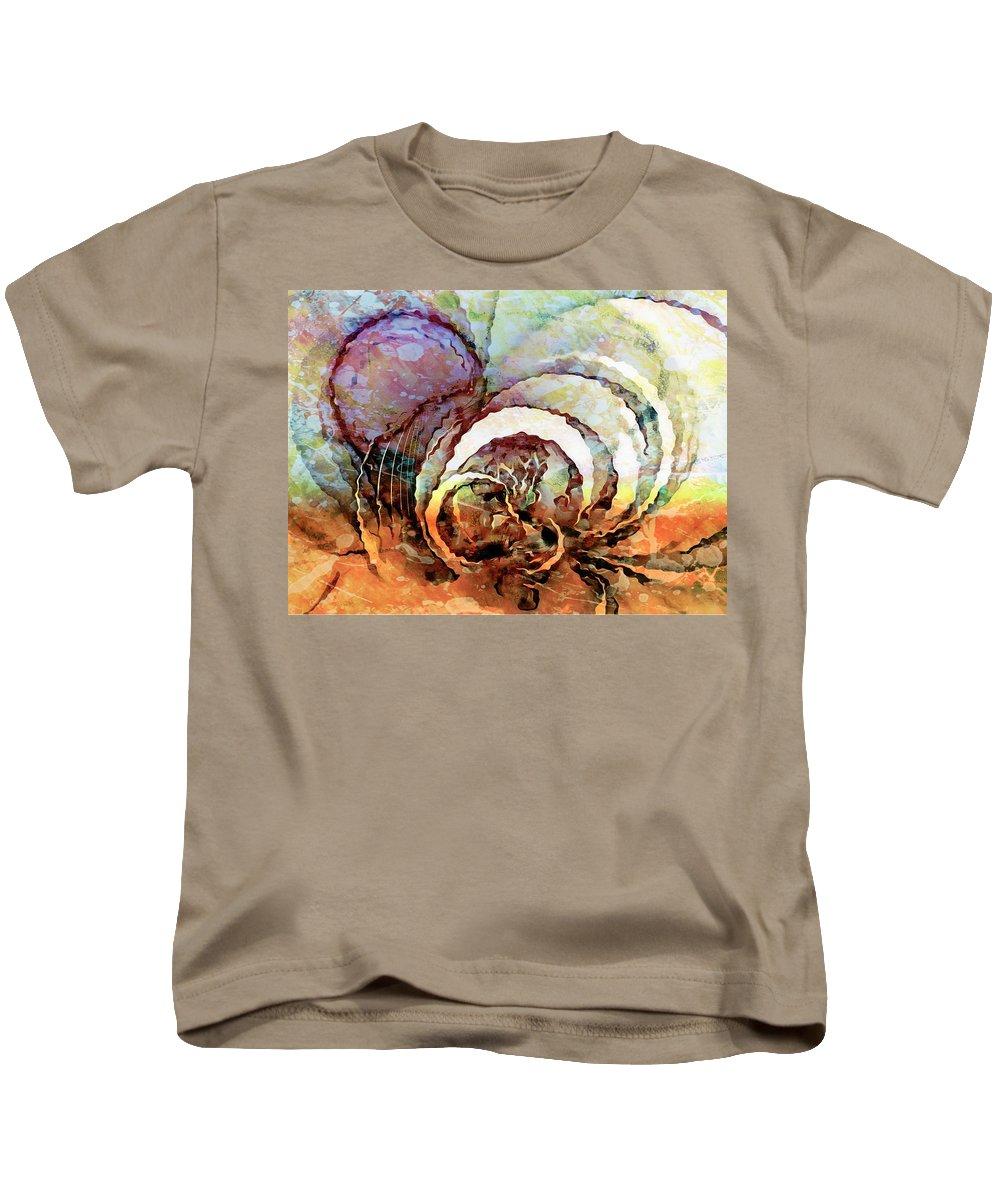 Fractal Art Kids T-Shirt featuring the digital art Abandoned by Amanda Moore