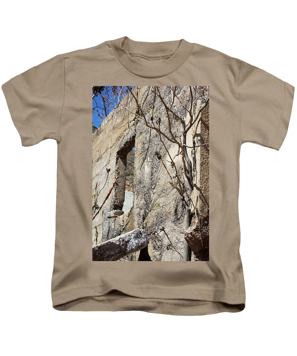 Wall Kids T-Shirt featuring the photograph Abandoned by Phyllis Denton