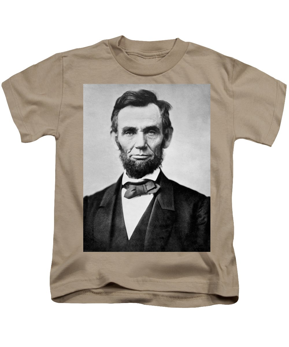 abraham Lincoln Kids T-Shirt featuring the photograph Abraham Lincoln - Portrait by International Images