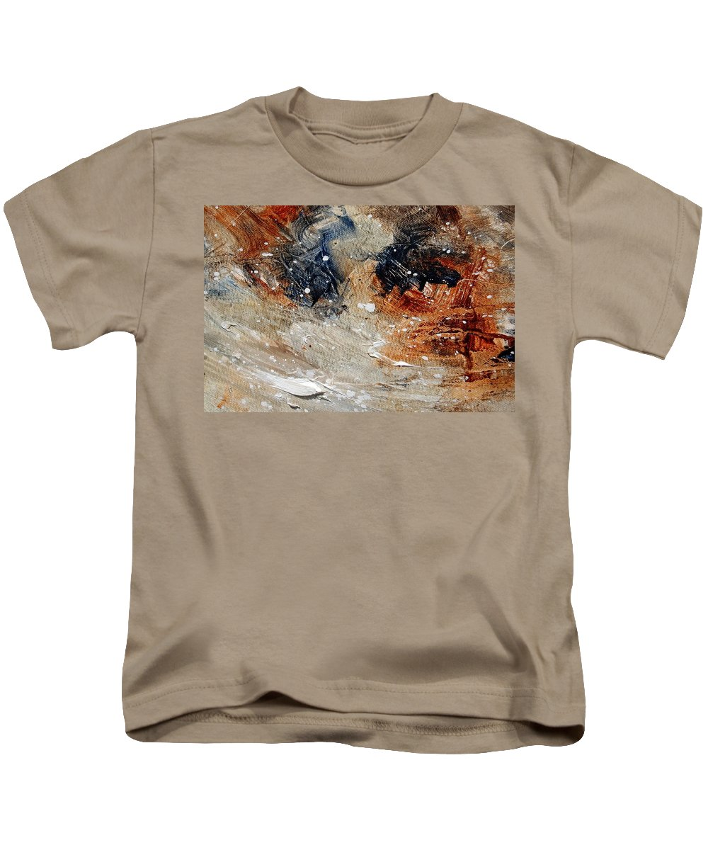 Abstract Kids T-Shirt featuring the painting Abstract 1236 by Pol Ledent