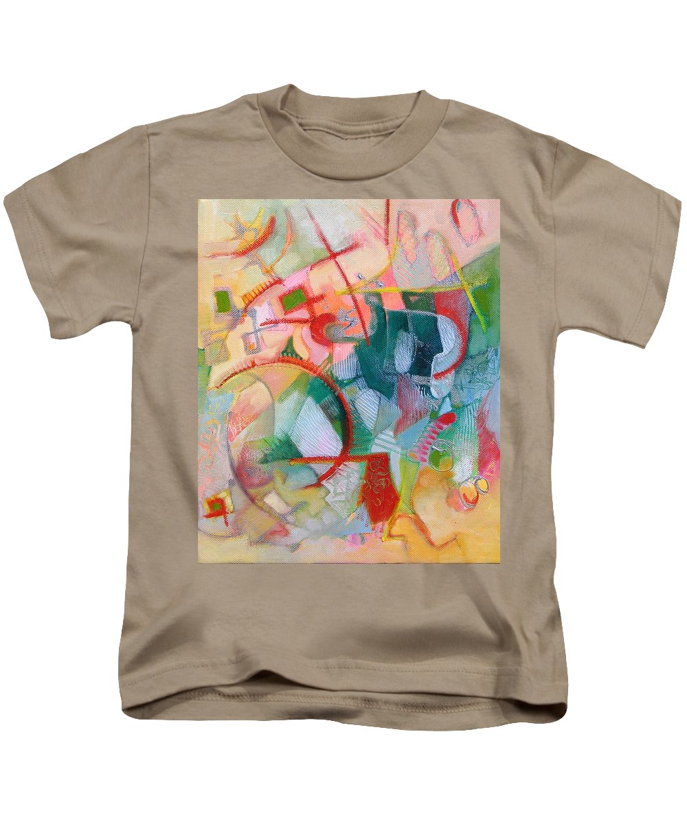 Abstract Artwork Kids T-Shirt featuring the painting Abstract 3 by Susanne Clark