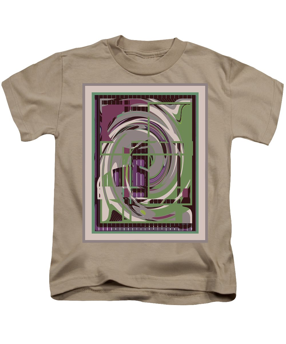 Purple Kids T-Shirt featuring the painting Abstract 8 by Robert Todd