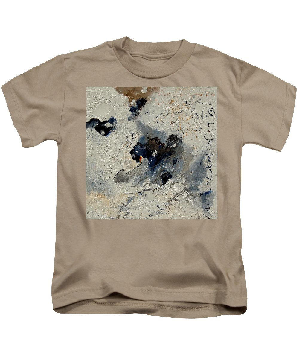 Abstract Kids T-Shirt featuring the painting Abstract 901141 by Pol Ledent