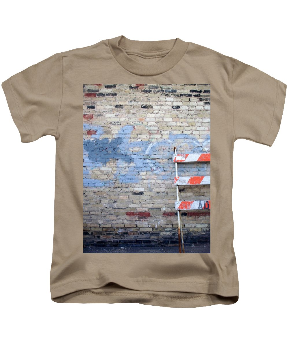 Industrial Kids T-Shirt featuring the photograph Abstract Brick 2 by Anita Burgermeister