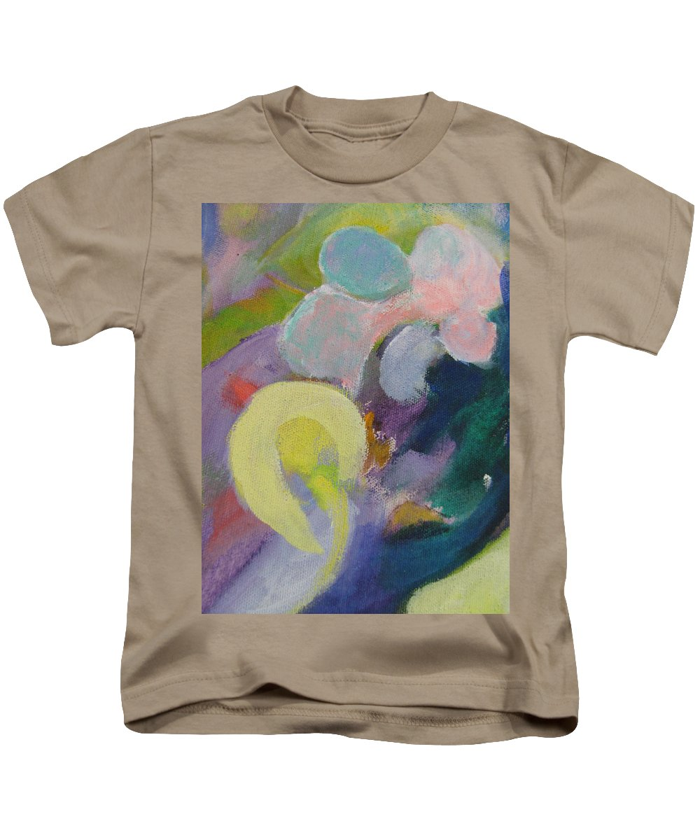 Abstact Kids T-Shirt featuring the painting Abstract Close Up 15 by Anita Burgermeister