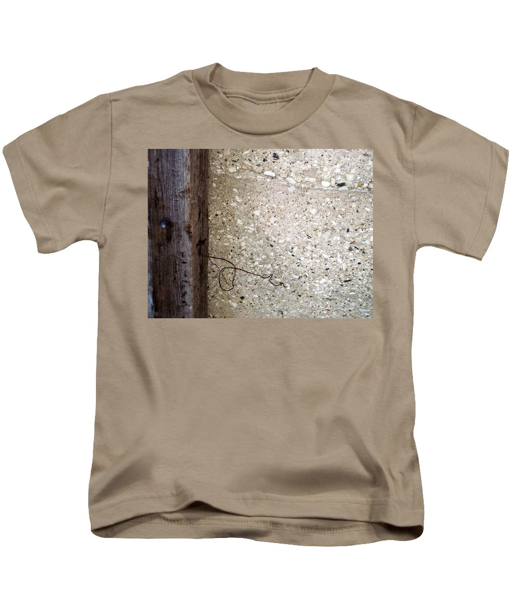 Industrial. Urban Kids T-Shirt featuring the photograph Abstract Concrete 12 by Anita Burgermeister