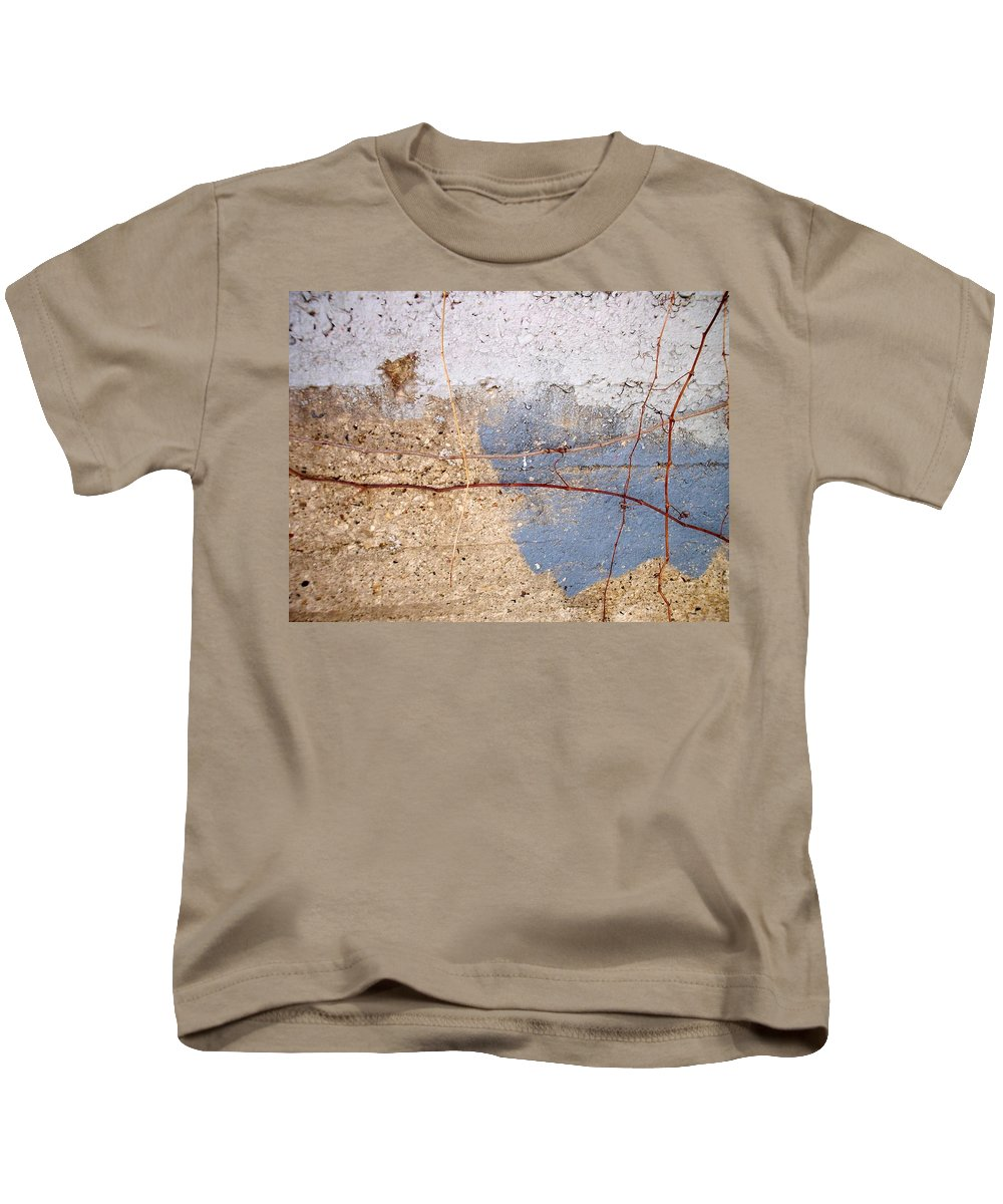 Industrial. Urban Kids T-Shirt featuring the photograph Abstract Concrete 15 by Anita Burgermeister